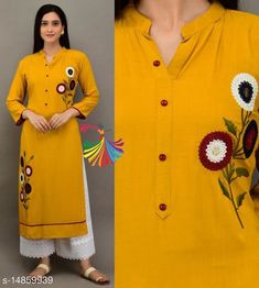Checkout this latest Kurta Sets Product Name: *Women Rayon Short Kurti Printed Long Kurti With Palazzos* Kurta Fabric: Rayon Bottomwear Fabric: Cotton Blend Fabric: No Dupatta Sleeve Length: Three-Quarter Sleeves Set Type: Kurta With Bottomwear Bottom Type: Palazzos Pattern: Printed Multipack: Single Sizes: S, M, L, XL, XXL Country of Origin: India Easy Returns Available In Case Of Any Issue   Catalog Rating: ★4.1 (3227)  Catalog Name: Women Rayon Short Kurti Printed Long Kurti With Palazzos CatalogID_2953950 C74-SC1003 Code: 725-14859939-0831