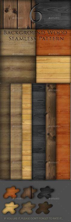 6 Background Wood Seamless Pattern