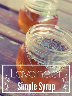 Homemade lavender simple syrup. Soooo good in coffee!