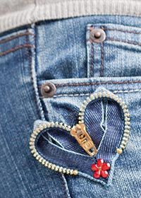 New Sewing Jeans Hole 62 Ideas Diy Jeans, Sewing Jeans, Recycle Jeans, Upcycle, Jean Crafts, Denim Crafts, Zipper Crafts, Sewing Crafts, Zipper Jewelry