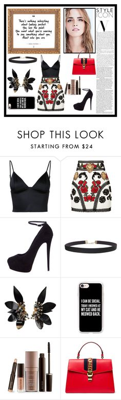 """""""Naomi"""" by cecemontgommery ❤ liked on Polyvore featuring T By Alexander Wang, Dolce&Gabbana, Giuseppe Zanotti, Humble Chic, Marni, Casetify, Laura Mercier and Gucci"""