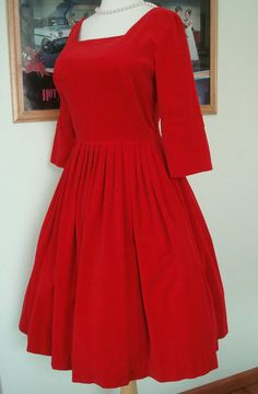 Vintage Velvet Dress. Valentine's Day?