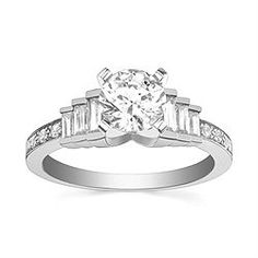 Diamond Days Jewelers - 14K Precise White Gold Diamond Engagement ring.  Design your own athttp://ow.ly/hIJxM.