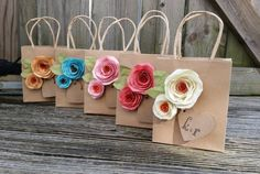 Items similar to Kraft gift bags. YOUR COLORS. on Etsy bag Kraft gift bags. YOUR COLORS. Paper Flower Garlands, Paper Flowers, Gift Flowers, Bridal Flowers, Paper Gift Bags, Paper Gifts, Craft Gifts, Diy Gifts, Handmade Gifts
