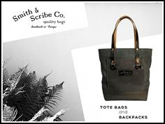 Smith & Scribe Co. prepares street bags characteristic for the mood of the first half of the century. Scribe, Italian Leather, Cotton Canvas, Backpacks, Mood, Tote Bag, Street, Handmade, Bags