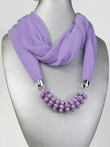 C Yarn Necklace, Scarf Jewelry, Fabric Beads, Fabric Jewelry, Jewelry Crafts, Handmade Jewelry, Coral Scarf, Diy Scarf, Scarf Design