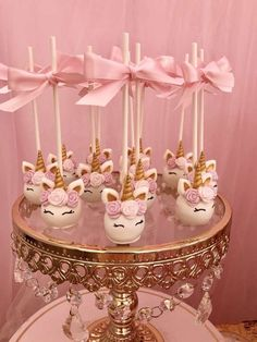 Unicorn Party Baptism Party Ideas Photo 1 of 12 1st Birthday Parties, Birthday Party Decorations, Kid Parties, Unicorn Cake Pops, Cake Pop Stands, Unicorn Themed Birthday, Baptism Party, Baptism Ideas, Baptism Cake Pops