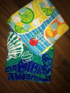 monogram beach towels