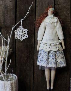 Купить Снежана интерьерная кукла Тильда. - белый, кукла Тильда, кукла ручной работы