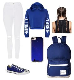 """""""93"""" by nyla2323 on Polyvore featuring New Look, Topshop, Converse, Herschel Supply Co. and Casetify"""