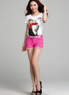 Red Rivet Cotton Short  $31.52 Cotton Shorts, Trousers, Skirts, Red, Trouser Pants, Pants, Skirt, Gowns