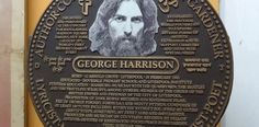 """George Harrison is honoured with a bronze plaque in Dhaka, Bangladesh.  His Concert for Bangladesh was the world's first showbiz chairty event in 1971.  """"My friend came to me with sadness in his eyes, told me that he wanted help before his country dies. Although I couldn't feel the pain I knew I had to try. Now I'm asking all of you to help us save some lives."""""""
