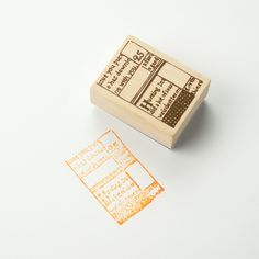 Chamil Garden Wood Rubber Stamp - BOOK C13 by niconecozakkaya on Etsy