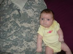 the BEST deployment idea..take his old T and jacket. put on a pillow.makes a GREAT cuddly buddy for kids or for u! spray with cologne :)