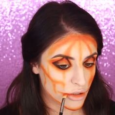 Looking for for inspiration for your Halloween make-up? Browse around this website for creepy Halloween makeup looks. Creepy Halloween Makeup, Sugar Skull Halloween, Amazing Halloween Makeup, Halloween Eyes, Clown Makeup, Amazing Makeup, Halloween Pumpkins, Halloween Parties, Skull Makeup Tutorial