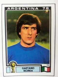 Gaetano Scirea, Italy's adventurous new sweeper at the 1978 World Cup Football Is Life, World Football, Uefa Football, Player Card, Football Stickers, Just A Game, Fc Barcelona, Fifa, Vignettes