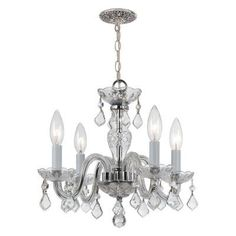 Crystorama 1064-CH-CL Traditional Crystal Chandelier - 1064-CH-CL-SAQ
