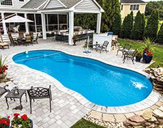 Best colors for a cement pool deck google search - Riviera fiberglass pools ...