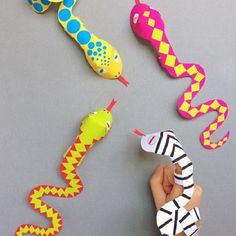 If you're looking for a fun paper craft for kids, then check out these Slithering Snake Finger Puppets.