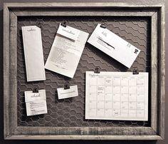 Cute way to organzie bills/lists/etc. :)