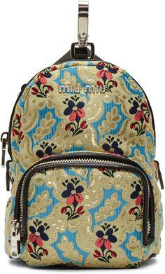 0b35d3755d34 Designer backpacks for Women. Designer BackpacksMini BackpackGrosgrainMiu  MiuTapestryZipperTextilesStylishChain
