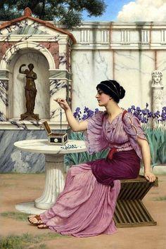 Threading Beads (John William Godward - ) 1905