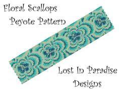 Peyote Bracelet Pattern - Floral Scallops