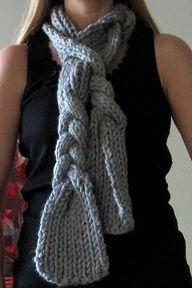 braided crochet scarf - Google Search