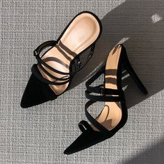 Strappy Heels, Stiletto Heels, Flats, Sandals, Chunky Heels, Black Heels, Open Toe, Lace Up, Platform