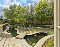 Firepit Design, Pictures, Remodel, Decor and Ideas - page 47 - green between pavers and coi pond