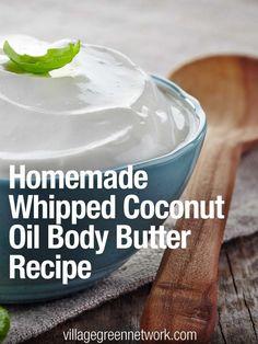 Homemade Whipped Coconut Oil Body Butter Recipe /