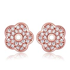 Rose Gold Earrings with rhinstones - Q149.00