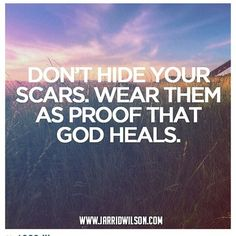 Yes, yes, yes, yes!  I'm so thankful for my scar that saved my life!