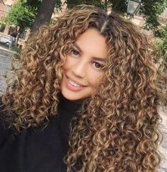 Highlights & dimension curly hair tips, wavy hair, curly hair routine, colored Dyed Curly Hair, Brown Curly Hair, Colored Curly Hair, Curly Hair With Bangs, Curly Hair Tips, Short Curly Hair, Curly Hair Styles, Natural Hair Styles, Blonde Curly Hair Natural