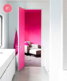 pink door and room #pink #decor