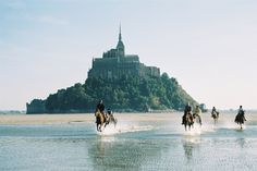 "See 3187 photos and 155 tips from 14753 visitors to Le Mont-Saint-Michel. ""One of the most impressively beautiful building of the middle age. St Michael's Mount, Normandy France, Mont Saint Michel, Beautiful Buildings, Horse Riding, Beautiful Horses, Belle Photo, Cool Places To Visit, Monument Valley"