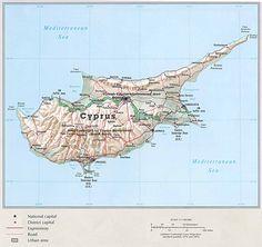 Carte Chypre