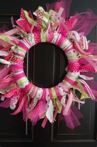 ribbon and tulle wreath