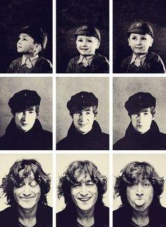 John Lennon, 1948, 1964, and 1974. pic.twitter.com/tmuDlnU9xe