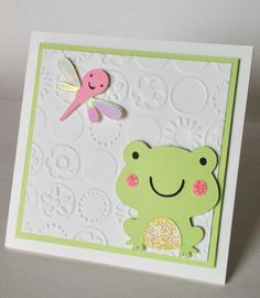 Baby shower card using create a critter cricut cartridge