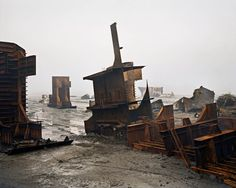 Shipbreaking #10, Chittagong, Bangladesh, 2000, by Edward Burtynsky Burtynsky shows the trail of decay and destruction left around the world in the name of industrial progress, here in Bangladesh Photograph: Nicholas Metivier Gallery Toronto/Gallerie Springer Berlin