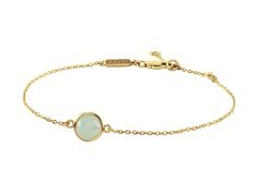JETE-GOLD Delicate chain bracelet with cabocon cut gem-stone detail