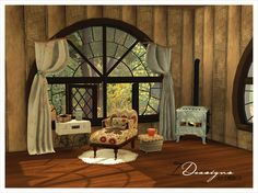 Shades of Fall Set (new meshes) Part.1 | Sims 4 Designs