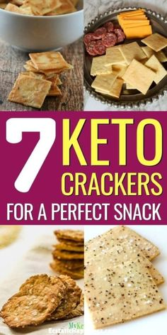 Looking for the perfect low carb crackers on the ketogenic diet? Try these keto crackers with butter, cheese, coconut flour or almond flour that are so easy to make. Crackers are one of those things you'll eventually miss on the keto diet. Keto Cookies, Cookies Et Biscuits, Chip Cookies, Keto Crackers Recipe, Low Carb Crackers, Almond Meal Cracker Recipe, Healthy Crackers, Flax Seed Recipes, Almond Recipes