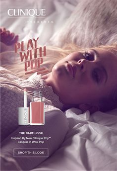 Clinique presents #PlayWithPop  CLINIQUE PRESENTS PLAY WITH POP. THE VIXEN LOOK. Inspired By New Clinique Pop(TM) Lip Colour + Primer in Berry Pop.