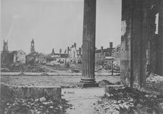 south after civil war | Photograph of Charleston, South Carolina city ruins seen from the ...