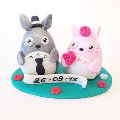 Cake topper wedding totoro - Sosebane