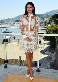 selena-gomez-style-all-white-skirt-transparent-blouse