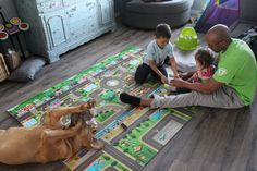 Even our Coco-Bean loves to lay with us during play time on the playMAT! Prince Lionheart, Little Ones, Kids Rugs, Play, Kid Friendly Rugs, Small Forearm Tattoos, Nursery Rugs