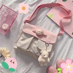 Aesthetic Bags, Pink Aesthetic, Aesthetic Clothes, Kawaii Bags, Kawaii Clothes, 90s Grunge, Soft Grunge, Mochila Kpop, Kawai Japan